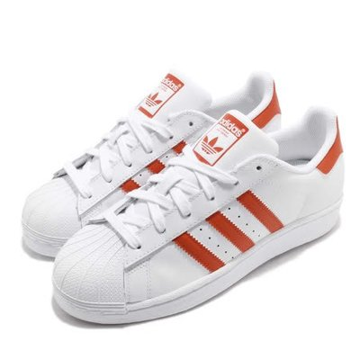 【AYW】ADIDAS ORIGINALS SUPERSTAR 經典 奶油頭 白橘 休閒鞋 運動鞋 us6.5 24.5