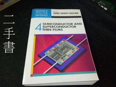【本度二手書3B32】Handbook of Thin Film Materials:4  0125129084