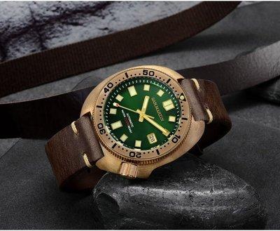 San Martin Bronze Turtle 6105 青銅鮑魚 機械錶 潛水錶 罐頭 元祖 小MM