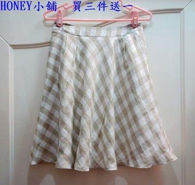 HONEY小舖@全新專櫃nonstop 格紋棉質全內裡圓裙L號 直購價200元 買三送一件