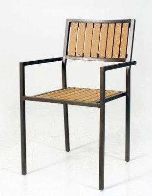 塑木方背椅-大台中地區免運費