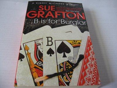 B is for Burglar / Sue Grafton 英文推理小說 英國版 一般平裝版 自藏書近全新