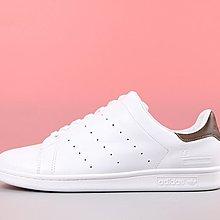 D-BOX  Adidas ORIGINALS STAN SMITH 白色 棕尾 史密斯 皮革 經典 百搭