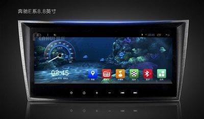 市售為一 BENZ W211 W209 E280 E320 E350 電容屏8.8吋 導航 方控 4核16G 手機互聯