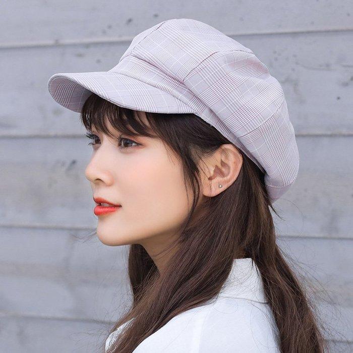 蓓蕾帽子女春夏季時尚百搭韓版潮可愛八角帽防曬遮陽鴨舌貝雷帽女夏季外出必備遮陽帽