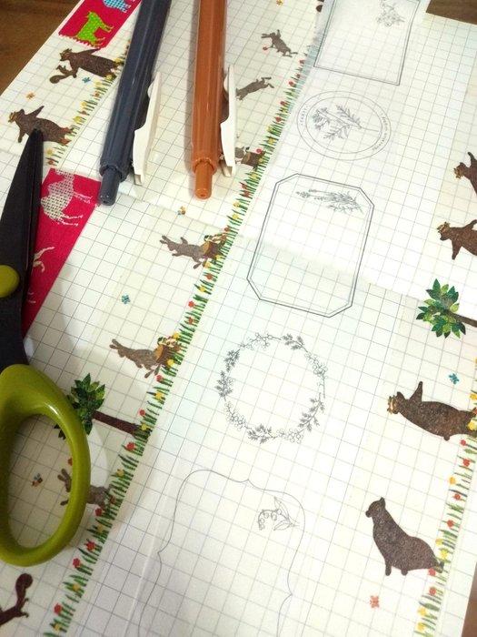 【R的雜貨舖】紙膠帶分裝(非整捲) Hütte paper works 花框