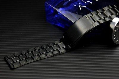 **22mm=黑色真空離子電鍍sea master 海馬風格不鏽鋼製錶帶,非烤漆,seiko, citizen,