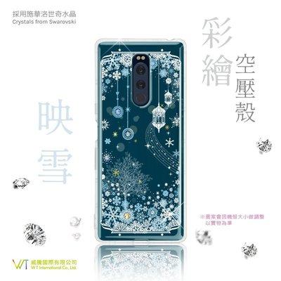 【WT 威騰國際】Sony Xperia 1_『映雪』施華洛世奇水晶 彩繪空壓 軟殼 保護殼