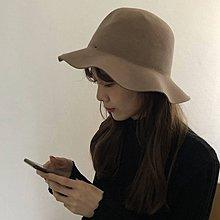 袁先生の家 高品質羊毛禮帽網紅同款2018冬新款簡約大帽檐復古休閑爵士帽