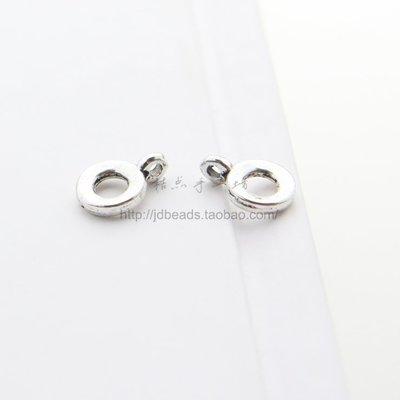 橙子的店 DIY配件合金飾品11*8mm吊環隔珠圓圈掛件項鏈手鏈珠隔復古(9410Y)