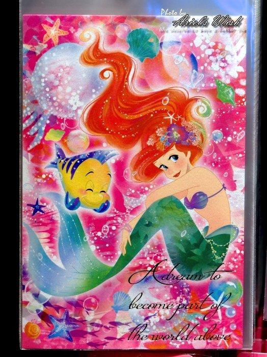 Ariel's Wish預購-日本東京Disney迪士尼愛麗兒小美人魚Ariel粉紅色夢幻海底泡泡A4檔案夾資料夾文件夾