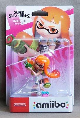【月光魚 電玩部】現貨全新 amiibo INKLING 橘色 女孩 任天堂明星大亂鬥 漆彈大作戰 3DS NS