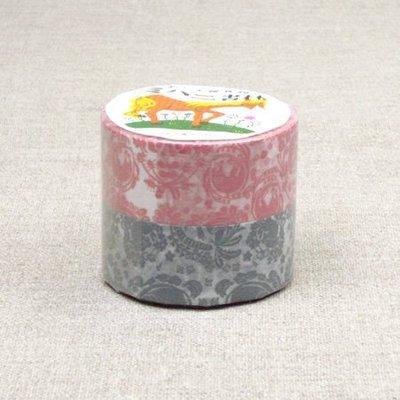 《散步生活雜貨-和紙膠帶系列》日本製 倉敷意匠 MIHANI工房+classiky 紙膠帶 2捲一組13102-04