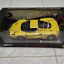 Mettel Hot Wheels Elite 比例 1/18 Enzo Ferrari (黄色)精緻上色全開汽車模型