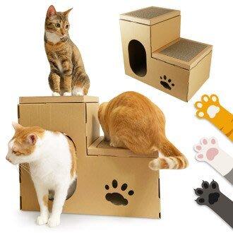 ☆YoYo 3C☆豪華版雙層貓抓板寵物貓屋