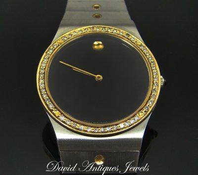 ((天堂鳥)) 新品刊登  MOVADO MUSEUM 摩凡陀博物館 水晶震動 鑽錶 / 特惠價