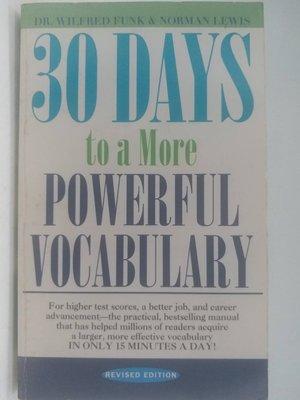 【月界二手書店】30 Days to a More Powerful Vocabulary_Funk 〖語言學習〗ADZ