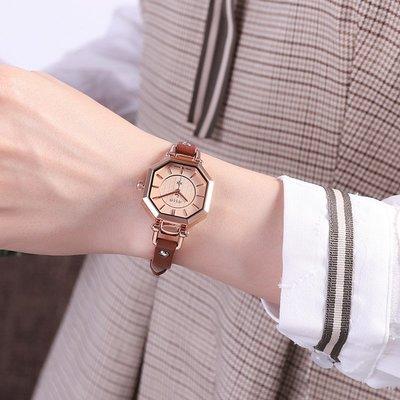 西西韓國專賣~正品聚利時黑白色皮帶女錶多邊形別樣潮流時尚個性女士手錶女學生