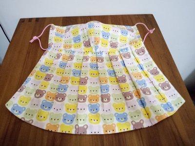 天使熊雜貨小舖~新純手工日本布立體口罩(滿版熊口罩)大人加長版庫存一個~~原價390