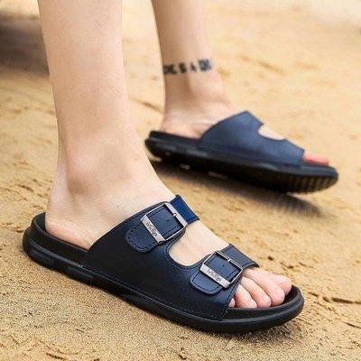 現貨出清 拖鞋夏季一字拖室外休閒涼拖男士涼鞋韓版防滑沙灘鞋外穿防滑潮拖10-23 igo