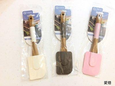 *愛焙烘焙* SK3312 竹柄矽膠刮刀 25*6cm 750-0331 奶油刮刀 清潔鏟 烘焙工具