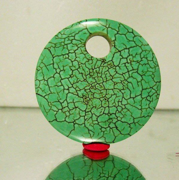 小風鈴~ 天然50mm綠松石(土耳其石)墜子!重:43.2