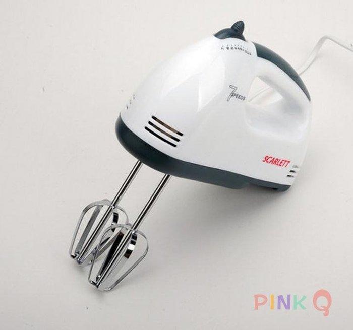 電動手持家用打蛋器攪拌器 烘焙工具[PinkQ】