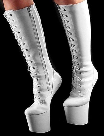 """""""西西莉亞""""新款後跟高25cm 超高無跟靴 表演鞋 特殊鞋 有現貨! 貨號:66056"""
