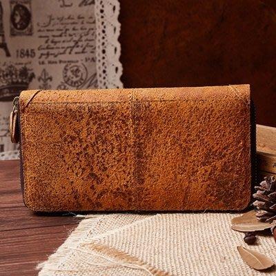 手拿 包 真皮 錢包-歐美復古長款大容量男包包73lu60[獨家進口][米蘭精品]
