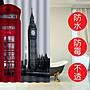 180X180cm英國倫敦街道 大笨鐘 電話亭 加厚...