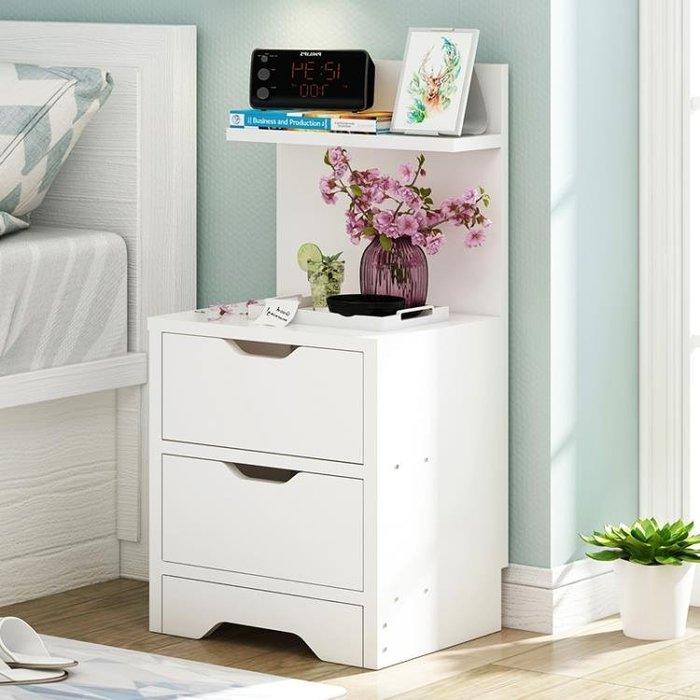 簡易床頭櫃簡約現代床櫃收納小櫃子組裝儲物櫃宿舍臥室組裝床邊櫃XQB