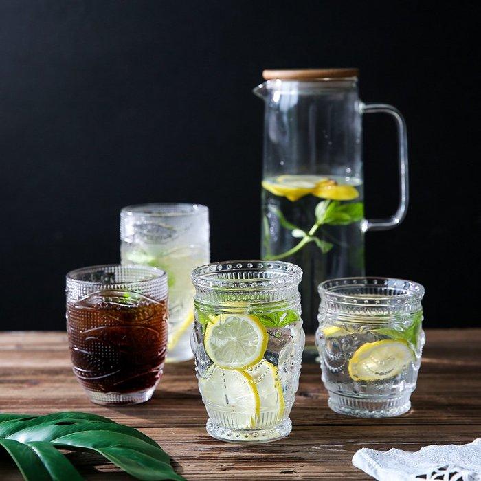 奇奇店-夏日特賣 清新玻璃杯家用水杯冷飲杯酒杯飲料杯子合集B-120#簡約 #輕奢 #格調