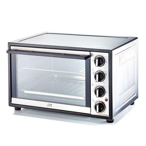 【大頭峰 】『贈電子秤 隔熱手套』尚朋堂 28L 雙溫控不鏽鋼旋風雙層玻璃烤箱SO-912