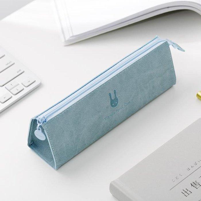 韓版簡約大容量筆袋小清新大學女生文具袋 韓版初中高中生鉛筆盒