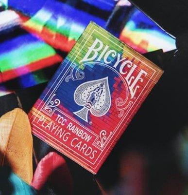 溜溜默默紙牌Bicycle Rainbow playing card美國進口彩虹收藏撲克牌
