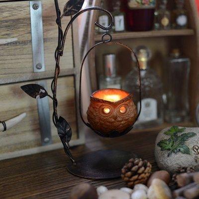 歐式鐵藝燭台 復古創意擺件燭台蠟燭 咖啡廳酒吧茶館居家裝飾用品