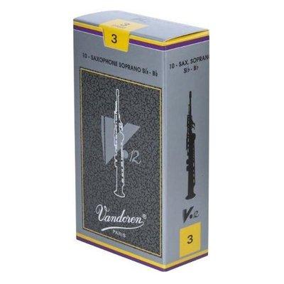 §唐川音樂§【Vandoren V12 Saxophone Soprano Reeds 薩克斯風 古典 銀盒 高音 竹片 10片裝】(法國製)