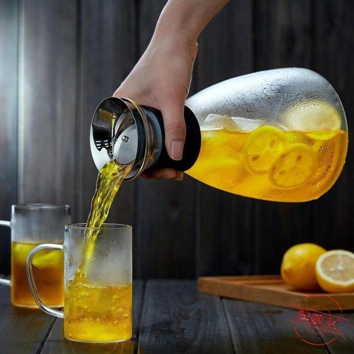 玻璃涼水壺家用耐高溫水瓶防爆玻璃茶壺大容量果汁冷水壺 【1件免運】