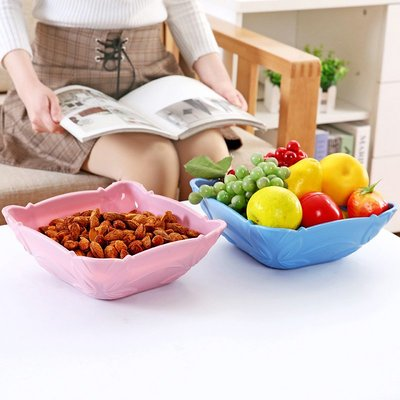 家用現代客廳水果盤塑料歐式創意瓜子盤干果盤水果籃水果盆糖果盤