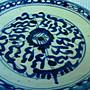 黑色小館-----B12------{清}青花手繪盤(約直徑11公分)有落款