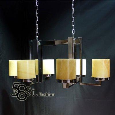 【58街-高雄館】附分段遙控「Sir Lancelot's pendant lamp 圓桌武士雲石版6燈款」複刻版。GH-353