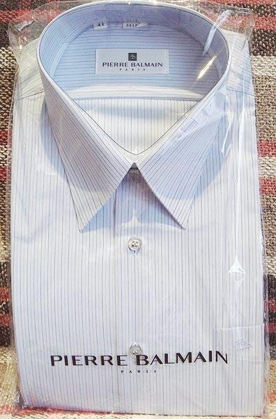 破盤清倉大降價!全新 皮爾帕門 Pierre Balmain 高質感長袖襯衫,低價起標無底價!本商品免運費!
