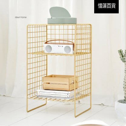 北歐ins架子臥室簡易多層置物架落地衛生間小鐵架床頭書架收納架