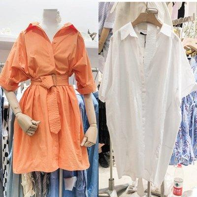 3色現貨+預購 韓國新品~腰帶襯衫式洋裝 Born again 【boa0430】