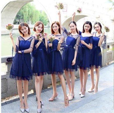 ZIHOPE 禮服-新款伴娘服長款韓版姐妹團禮服長裙修身宴會服秋冬年會晚禮服ZI812