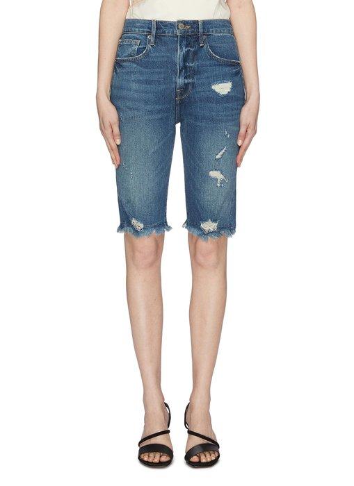 【代購】折扣 Frame 破壞 高腰 單車褲 牛仔短褲