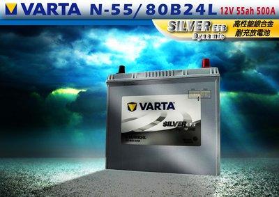 VARTA T-110 80B24L EFB 銀合金電池 怠速熄火車款適用 免加水 2倍循環壽命 堅固耐用長壽