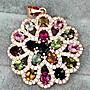 ((瑪奇亞朵的珠寶世界))超豪華 多顆碧璽鑲崁...
