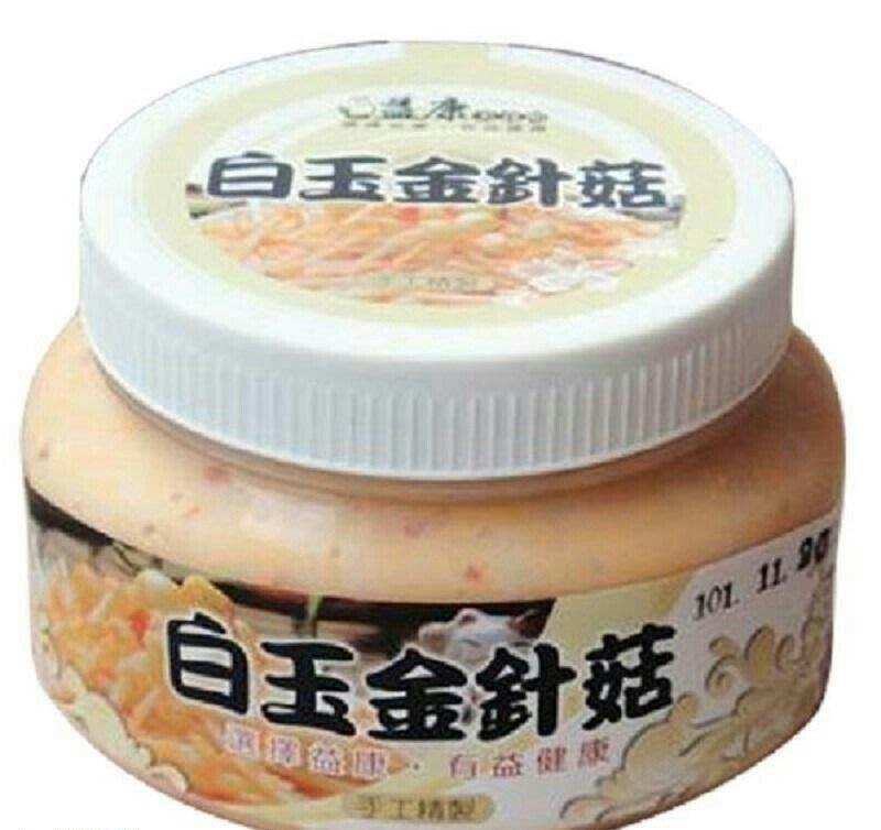 R(免運)【益康泡菜】白玉金針菇(500g±10g)x4罐 特惠組-小辣,大辣選擇  (0502)