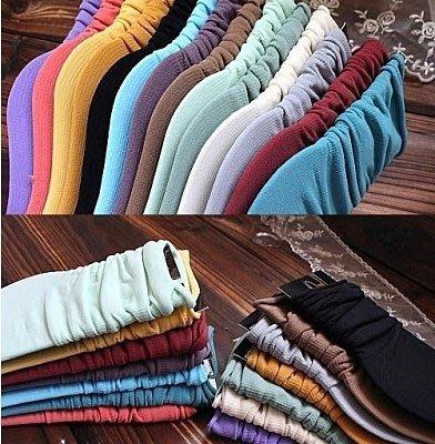 【Q比花園】C百搭卷邊韓國復古彩色加長款摺疊穿 堆堆襪/短襪/中筒襪